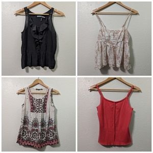 Urban Outfitters Mimi Chica Xhilaration 4 LOT Tops